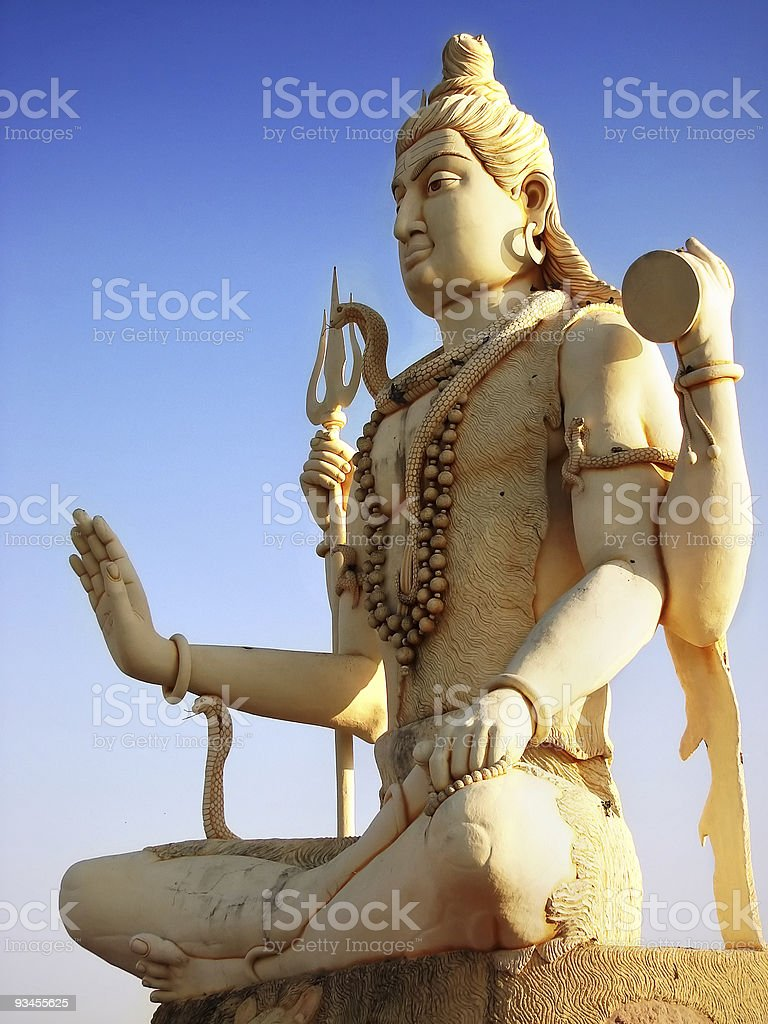 Lord Shiva statue at Dwarka royalty-free stock photo