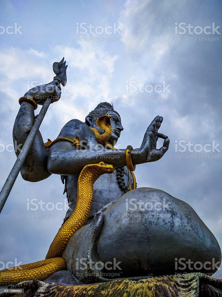 Lord Shiva statue at Murudeshwar Karnataka India stock photo