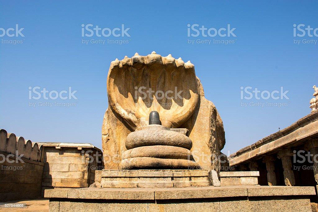 Lord Shiva With Serpent, Lepakshi, India stock photo