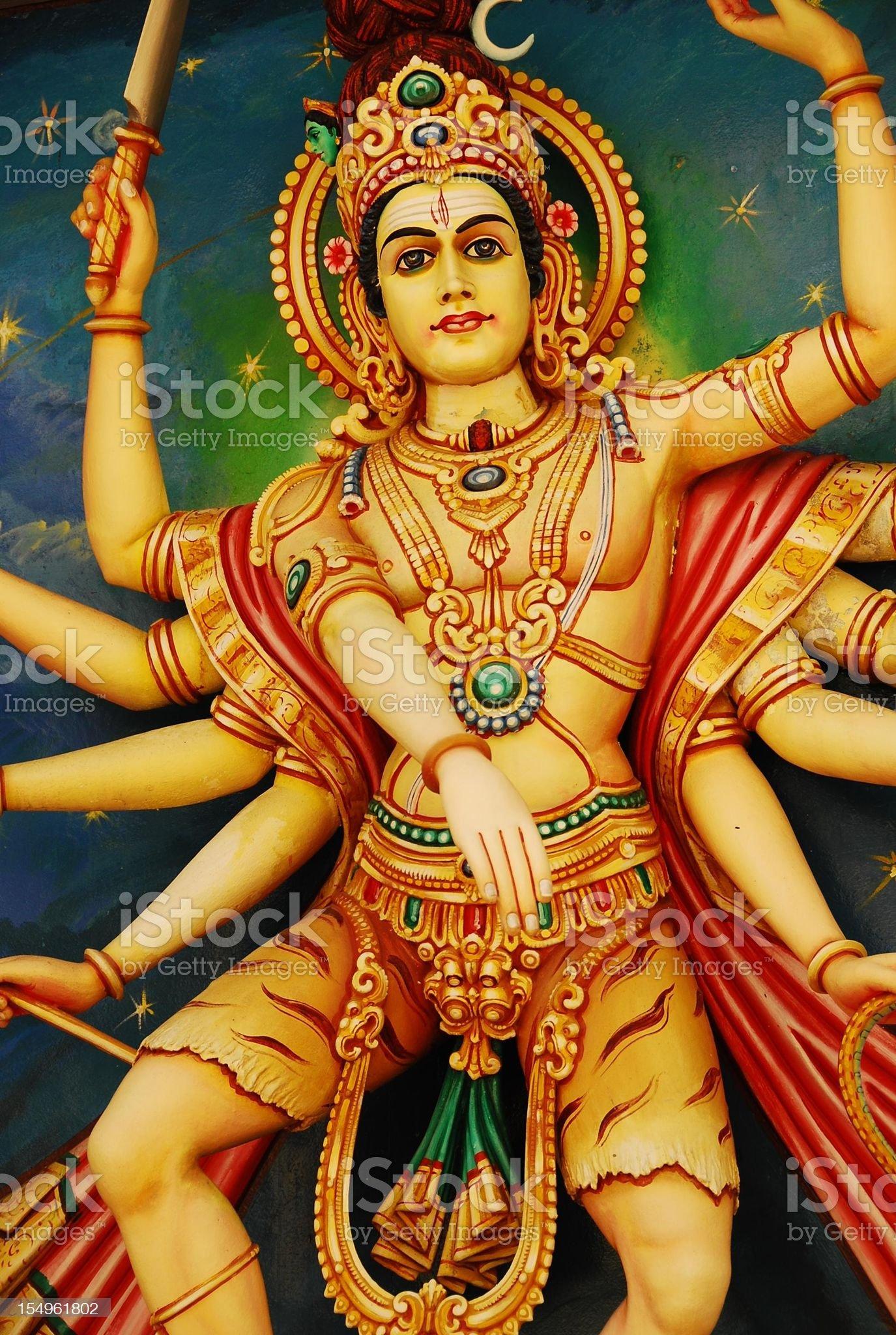 Lord Siva royalty-free stock photo