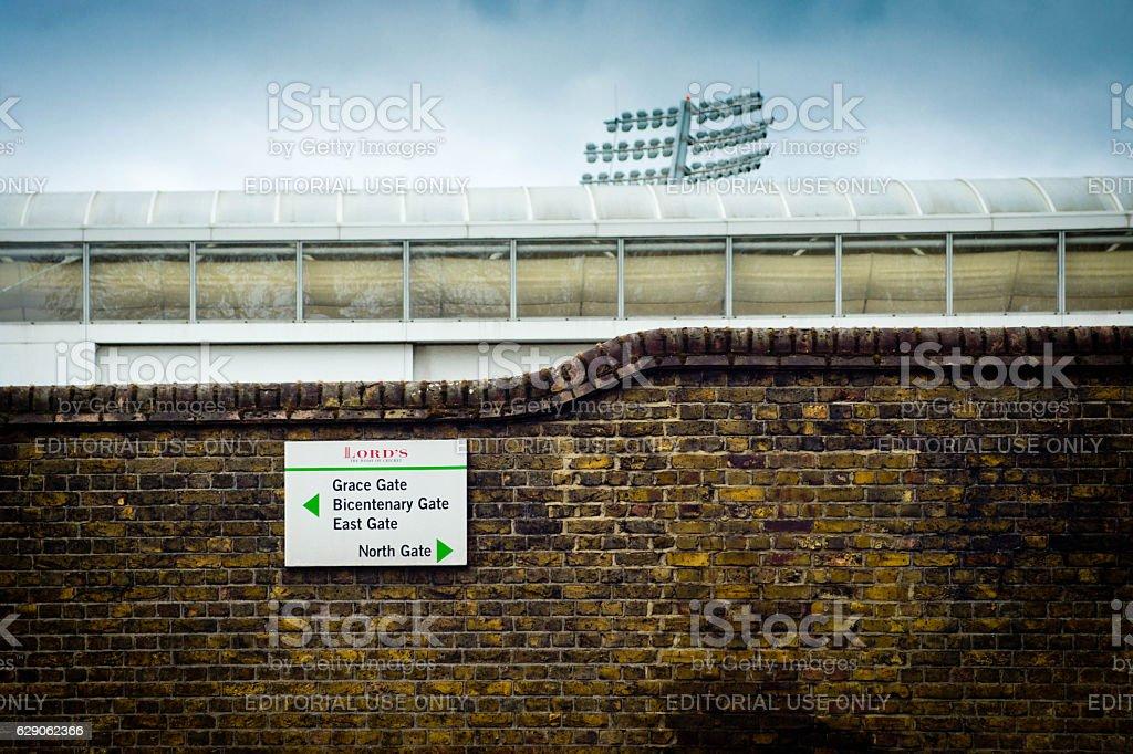 Lord's cricket ground stock photo