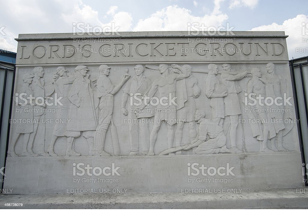 Lord's famous Cricket ground sculpture. stock photo