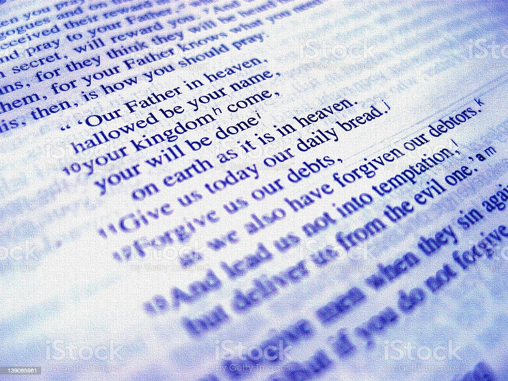 Lord's Prayer stock photo