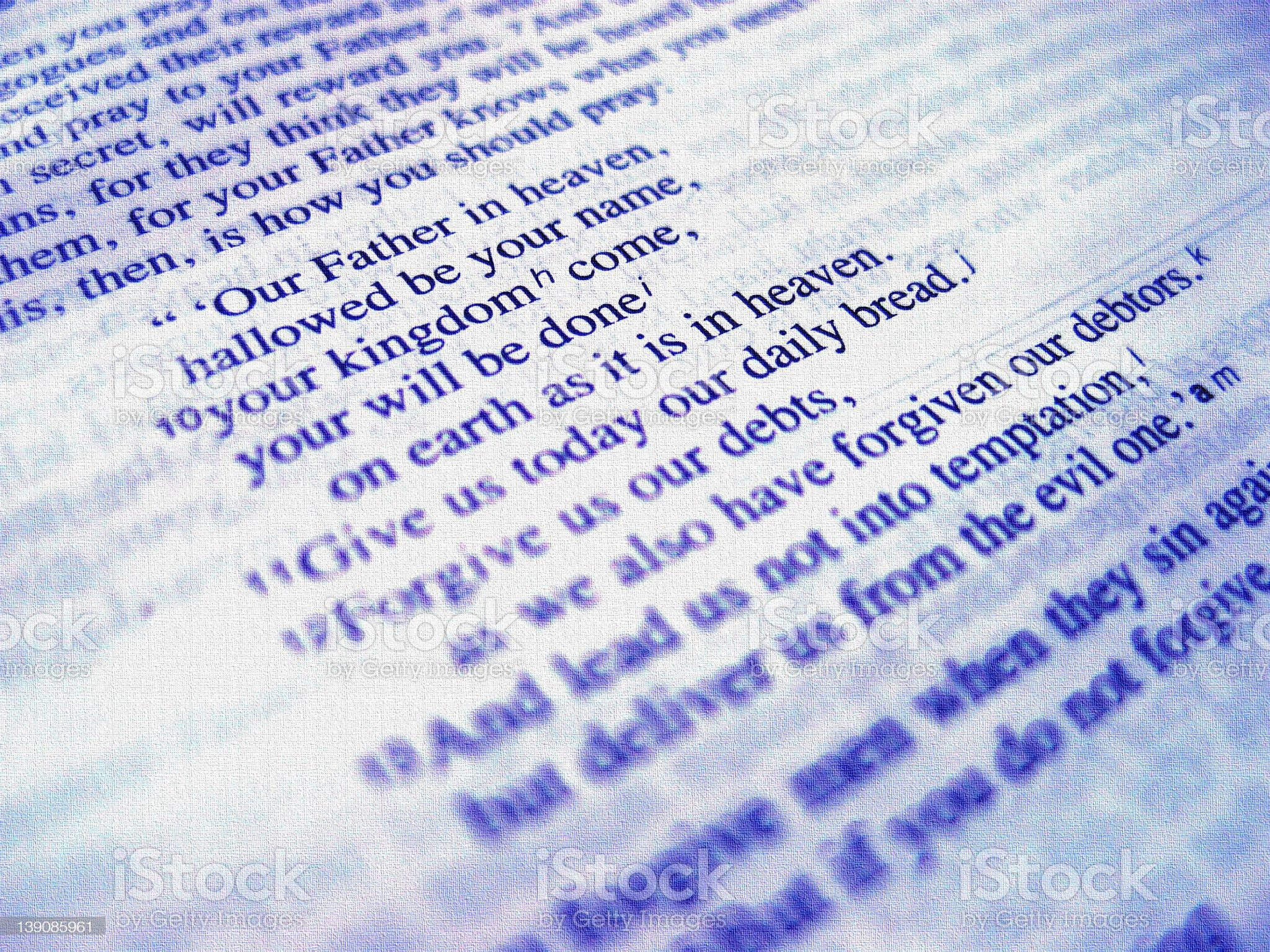 Lord's Prayer royalty-free stock photo
