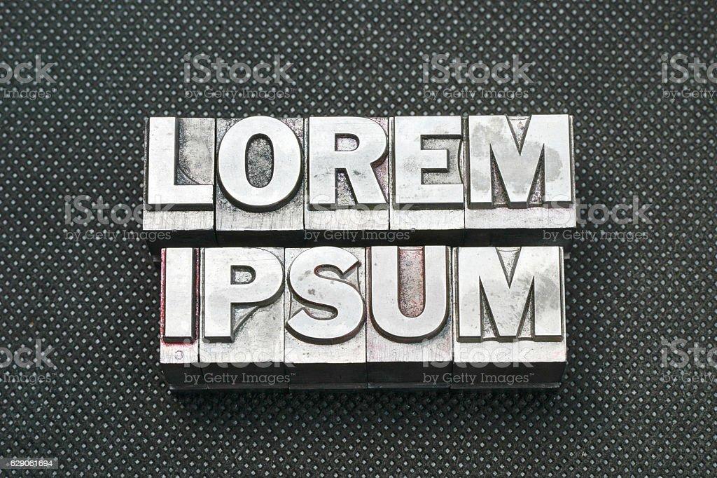 lorem ipsum bm stock photo