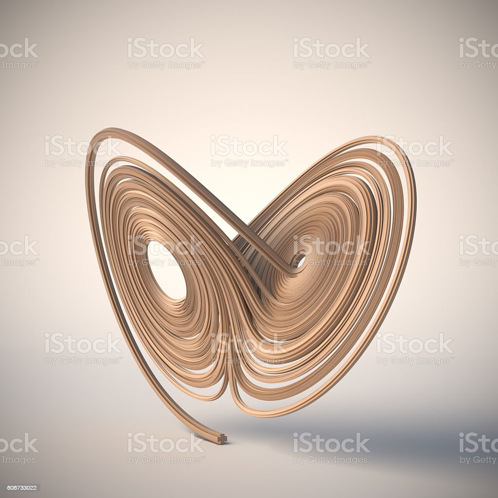Lorenz attractor stock photo
