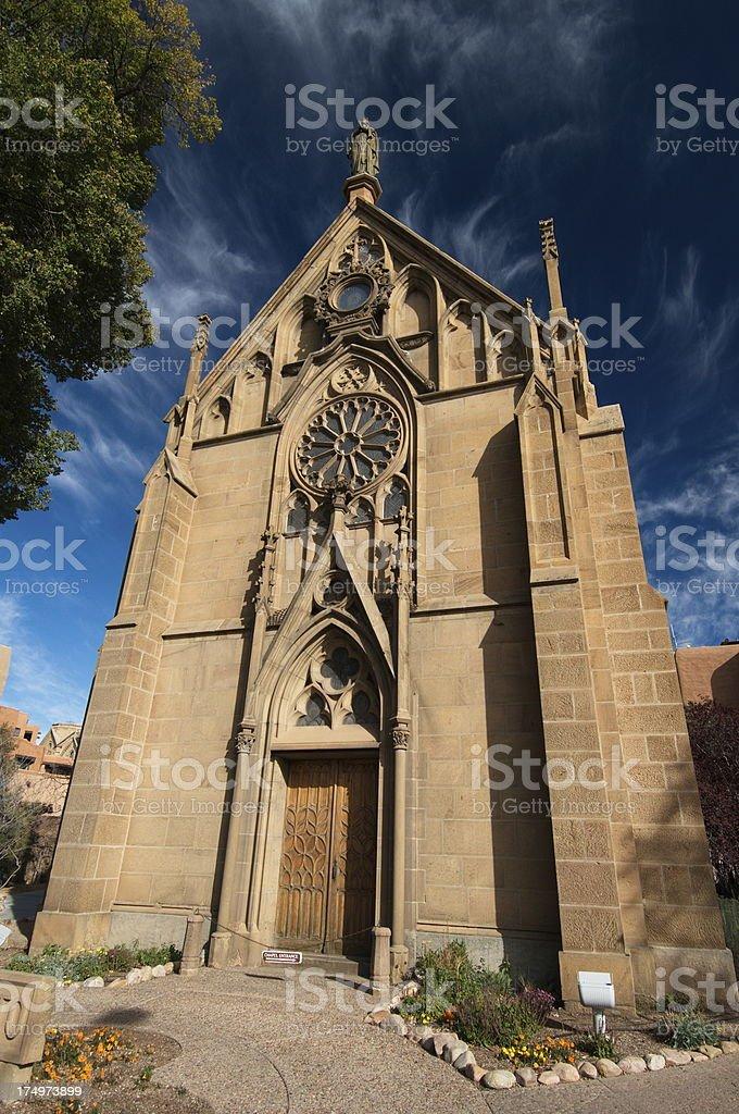 Loretto Chapel in Santa Fe, New Mexico royalty-free stock photo