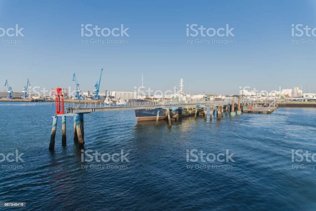 Lorient harbor, Brittany stock photo