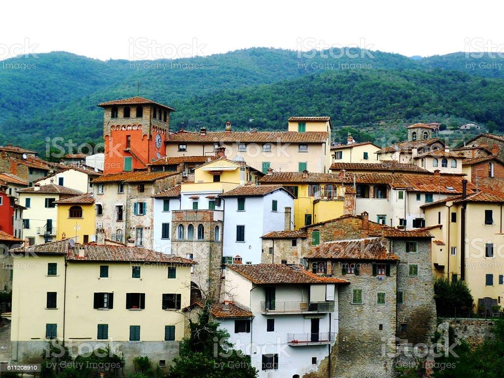 Loro Ciuffenna, province of Arezzo, Italy stock photo