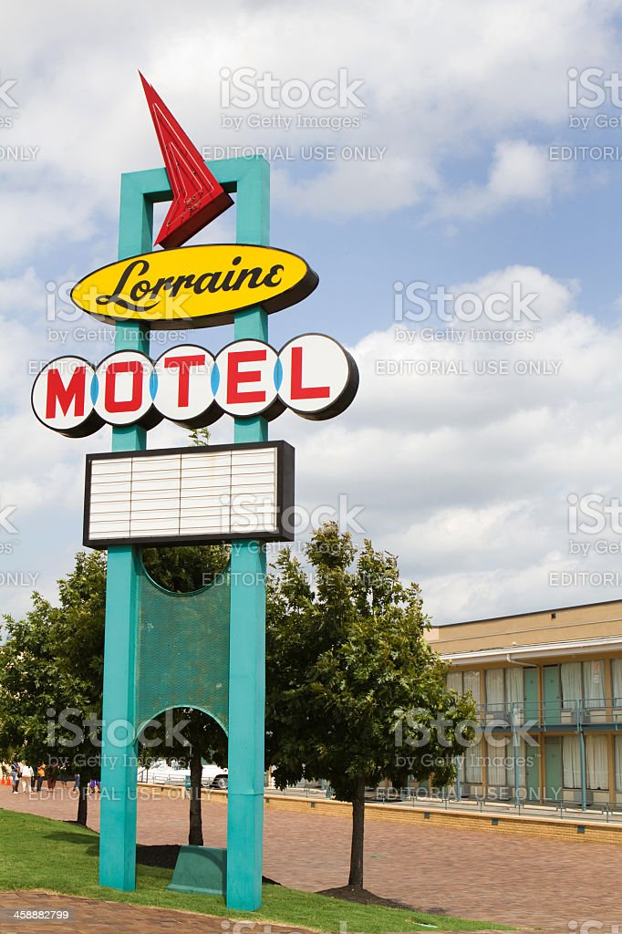 Lorraine Motel Sign royalty-free stock photo