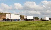 Lorries on the road