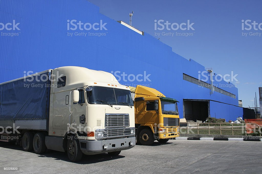 lorries royalty-free stock photo