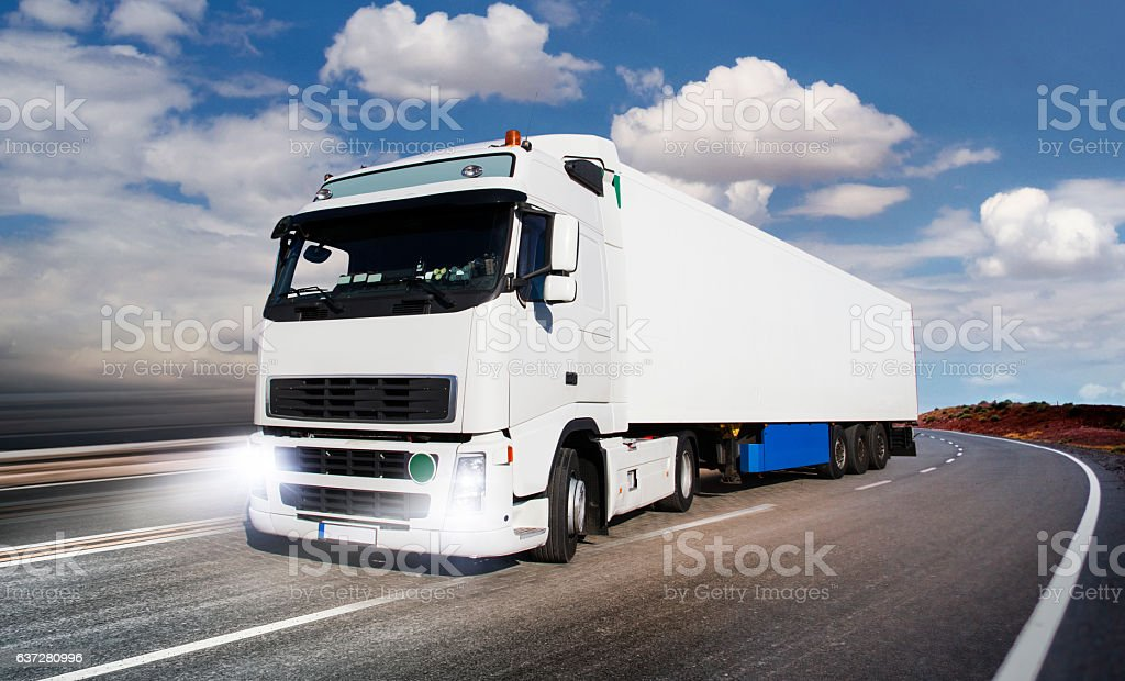 Lorry commercial truck stock photo