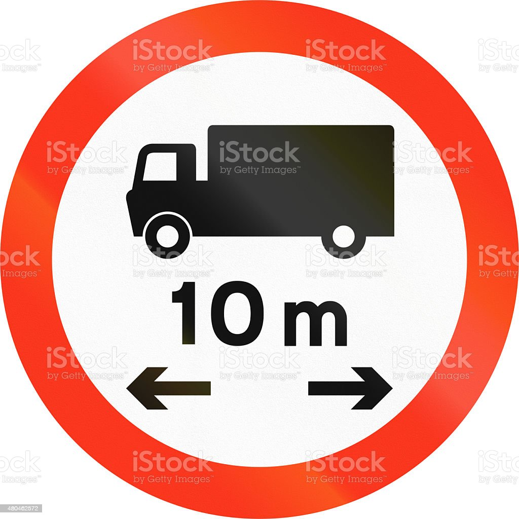 Lorry Length Limit in Bangladesh stock photo
