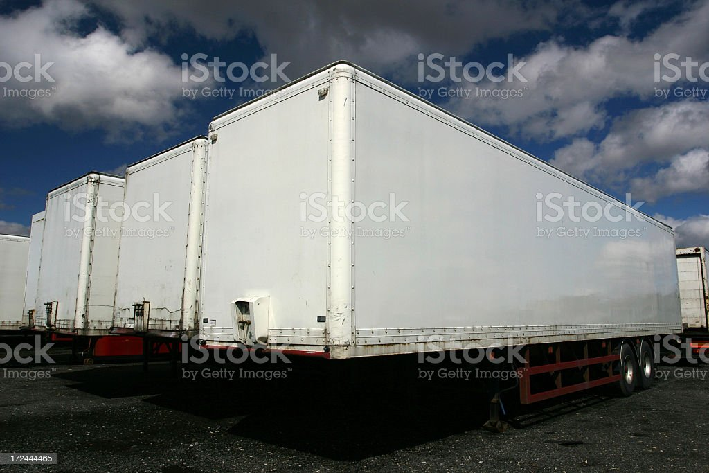 lorry trailers royalty-free stock photo