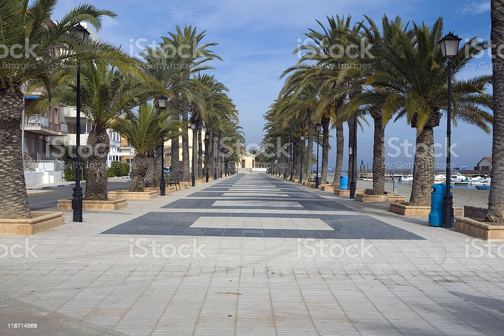 Los Alcazares beach royalty-free stock photo