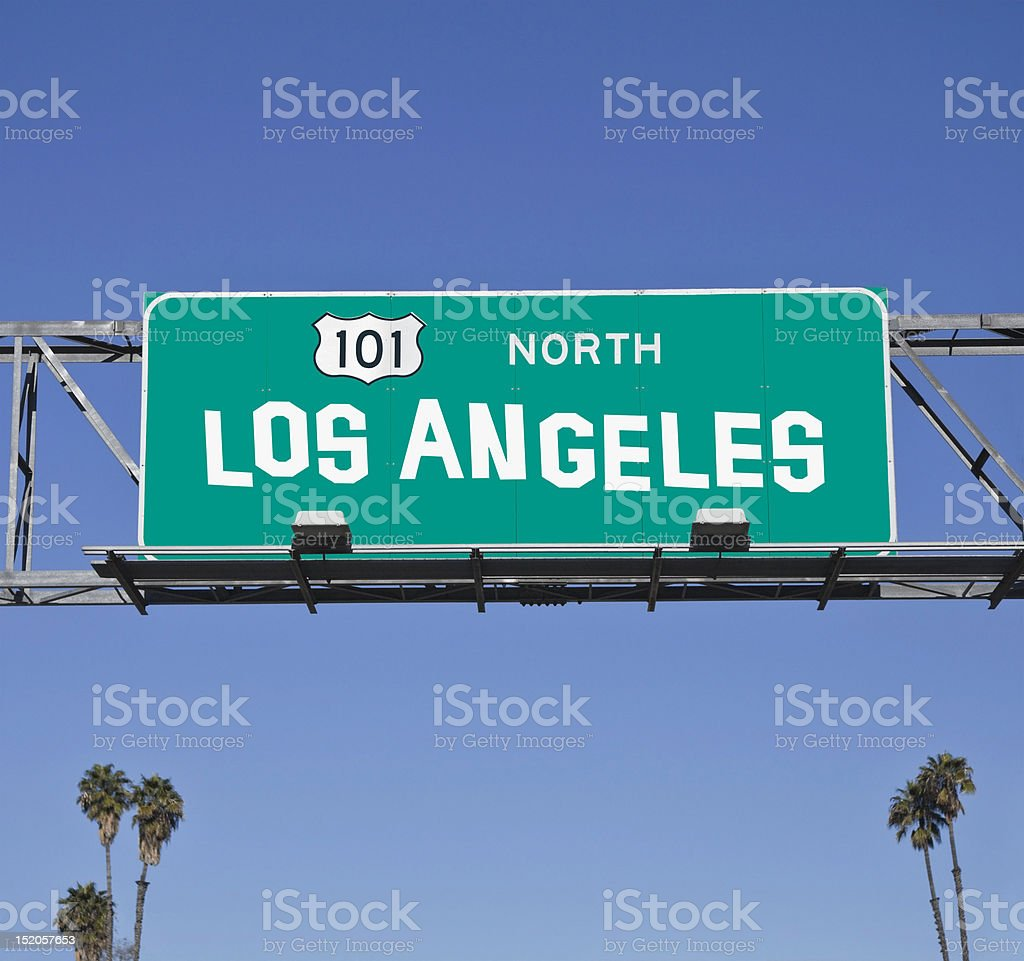 Los Angeles 101 Freeway Sign stock photo