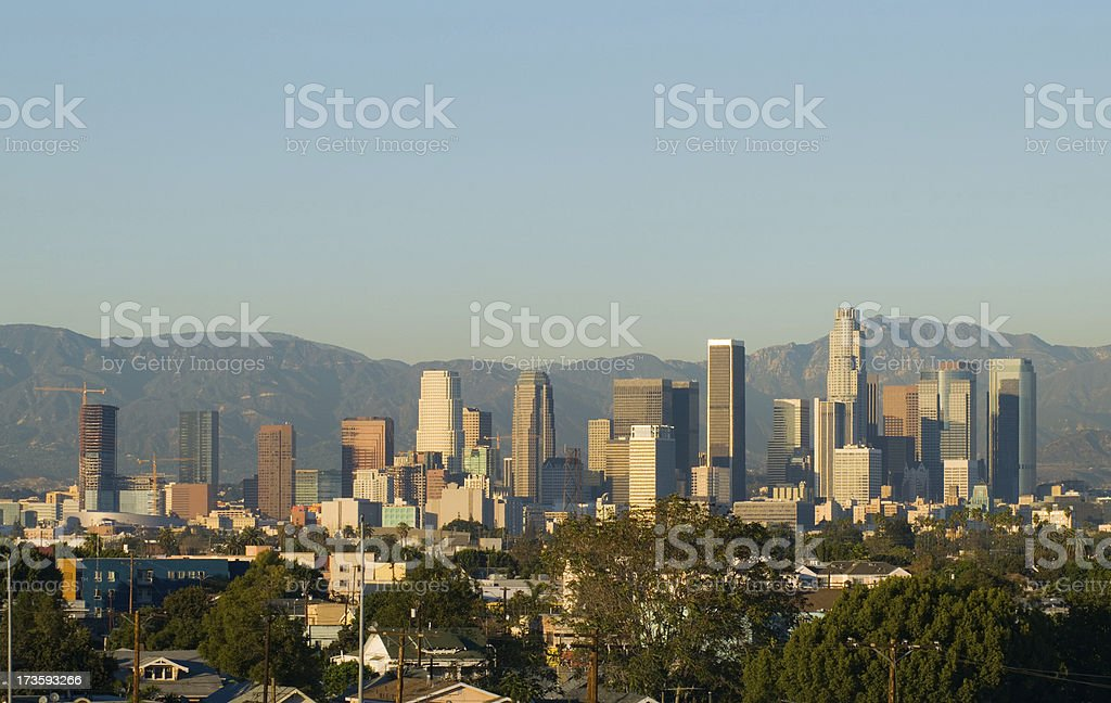 Los Angeles Afternoon Skyline stock photo