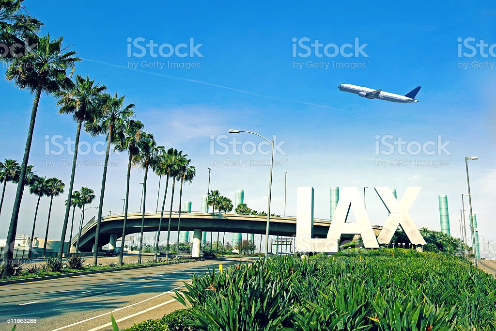 Los Angeles Airport LAX stock photo
