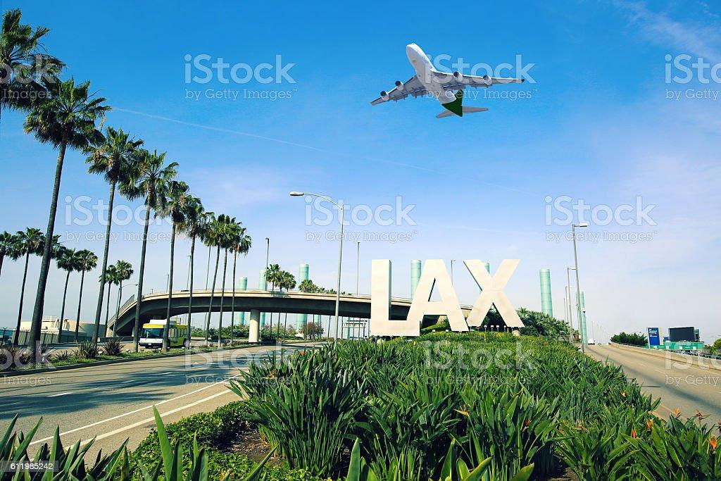 Los Angeles Airport LAX stock photo