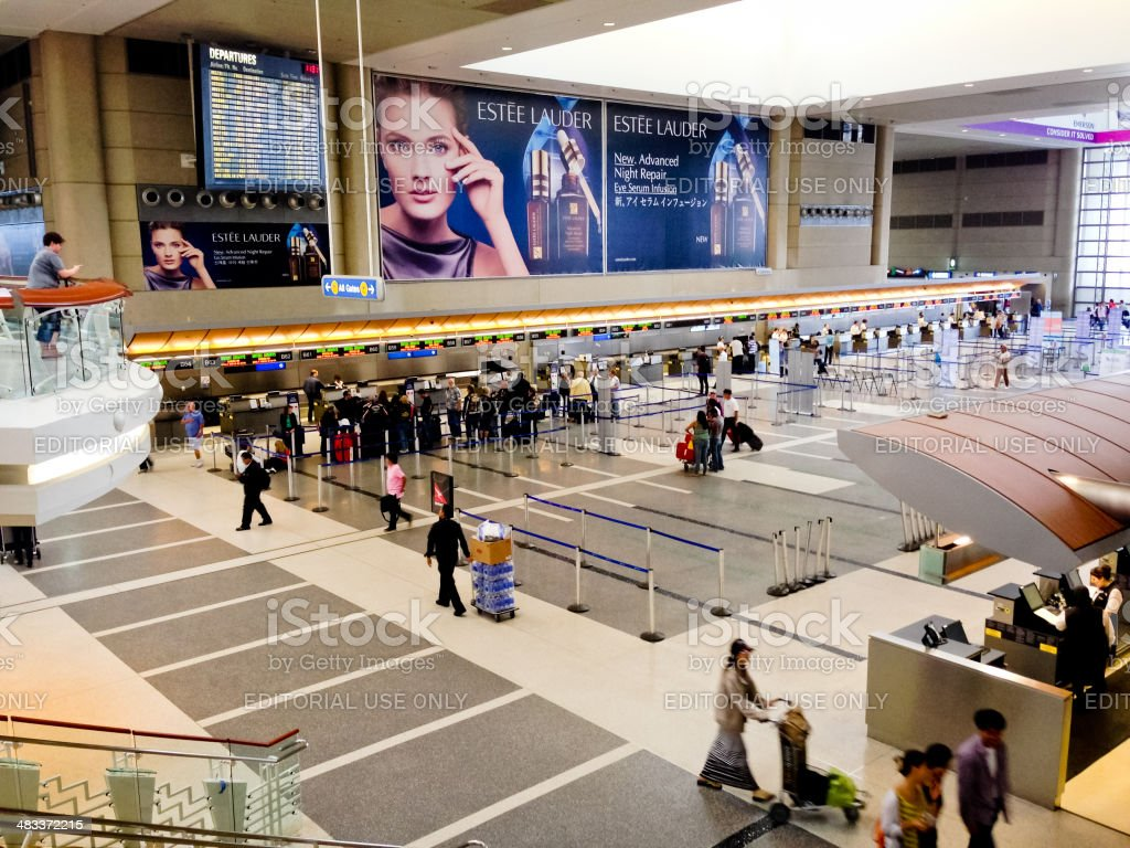 Los Angeles Airport, Tom Bradley International Terminal royalty-free stock photo