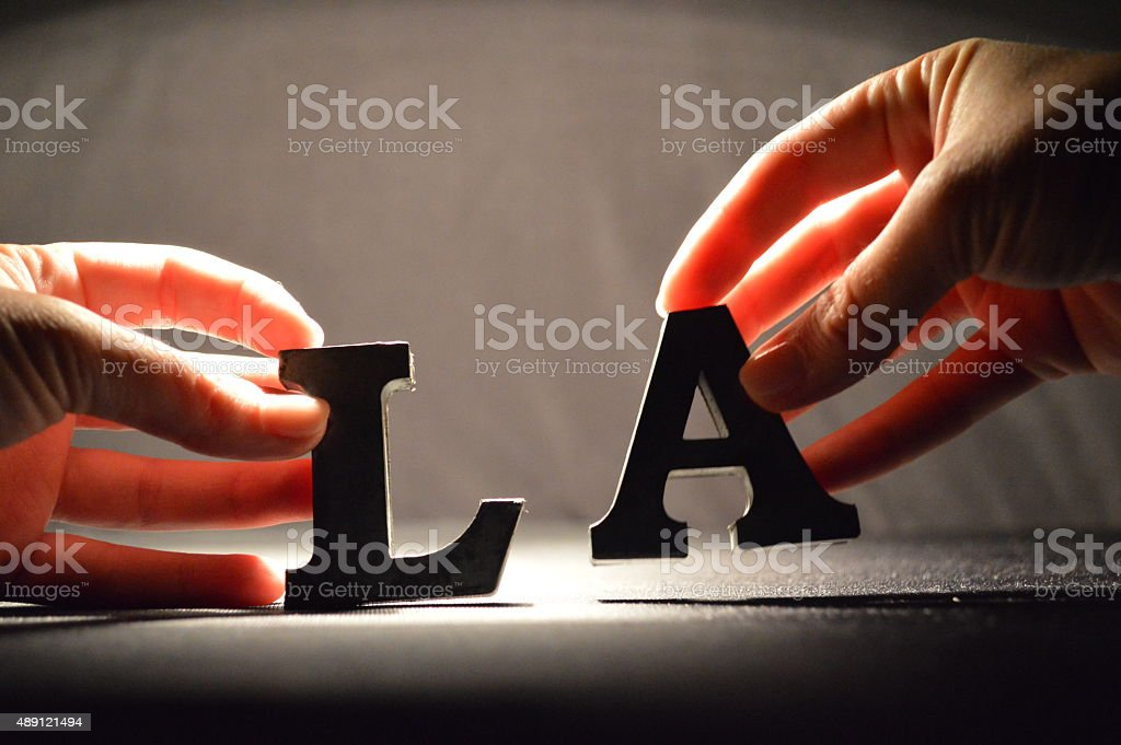 L.A. - Los Angeles - all about people. stock photo