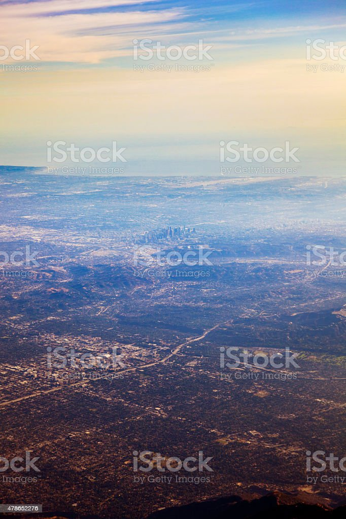 Los Angeles and Surroundings from the Air stock photo