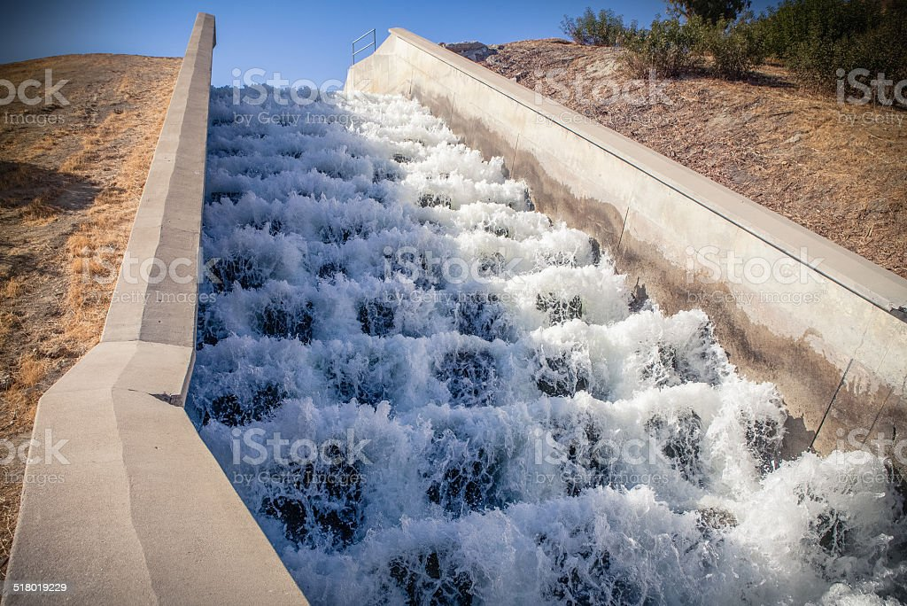 Los Angeles Aqueduct Cascades royalty-free stock photo