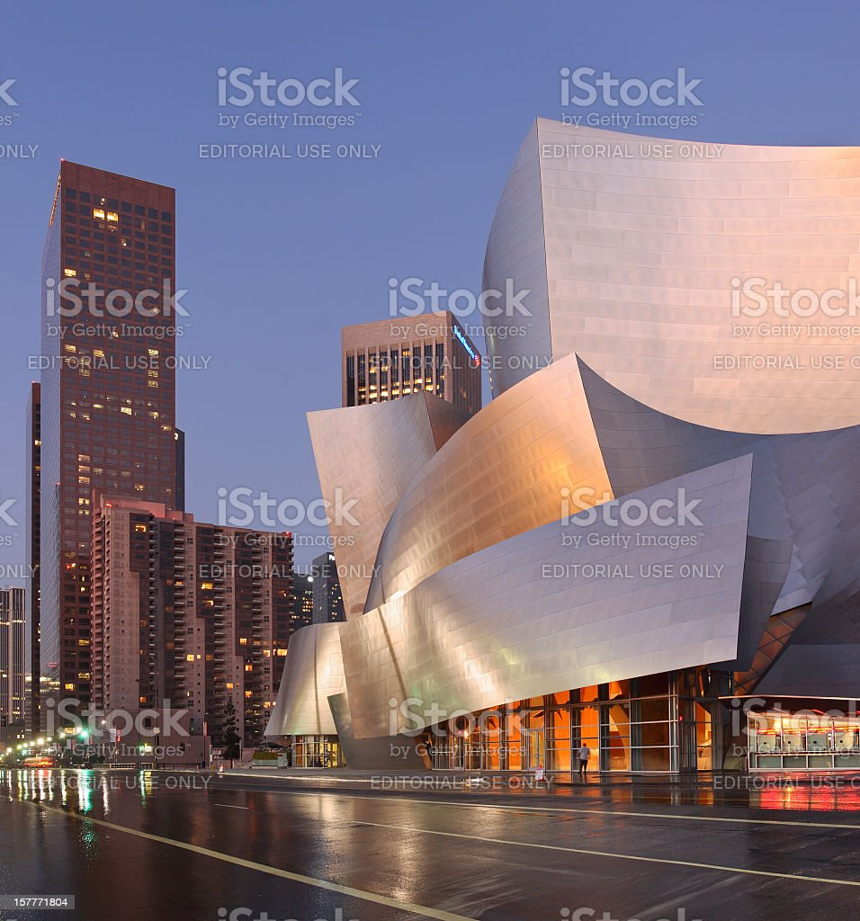 Los Angeles Architecture at twilight stock photo