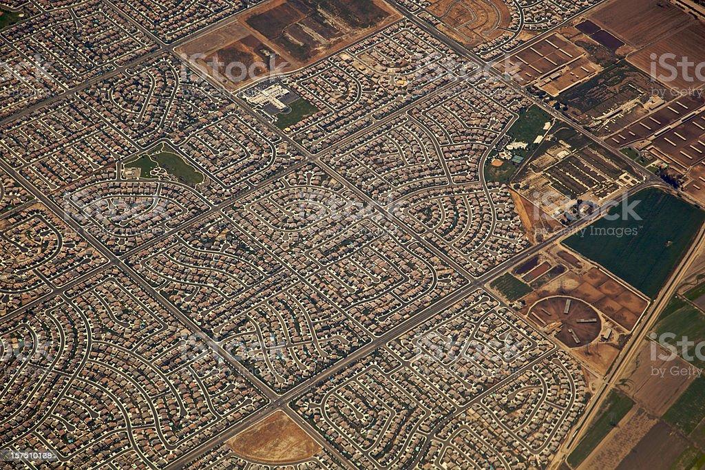 Los Angeles at 5,000 Feet Over Chino XXXL stock photo