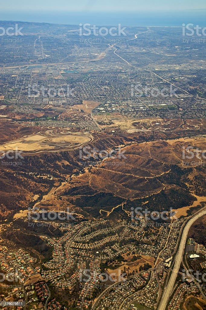 Los Angeles at 5,000 Feet XXXL royalty-free stock photo