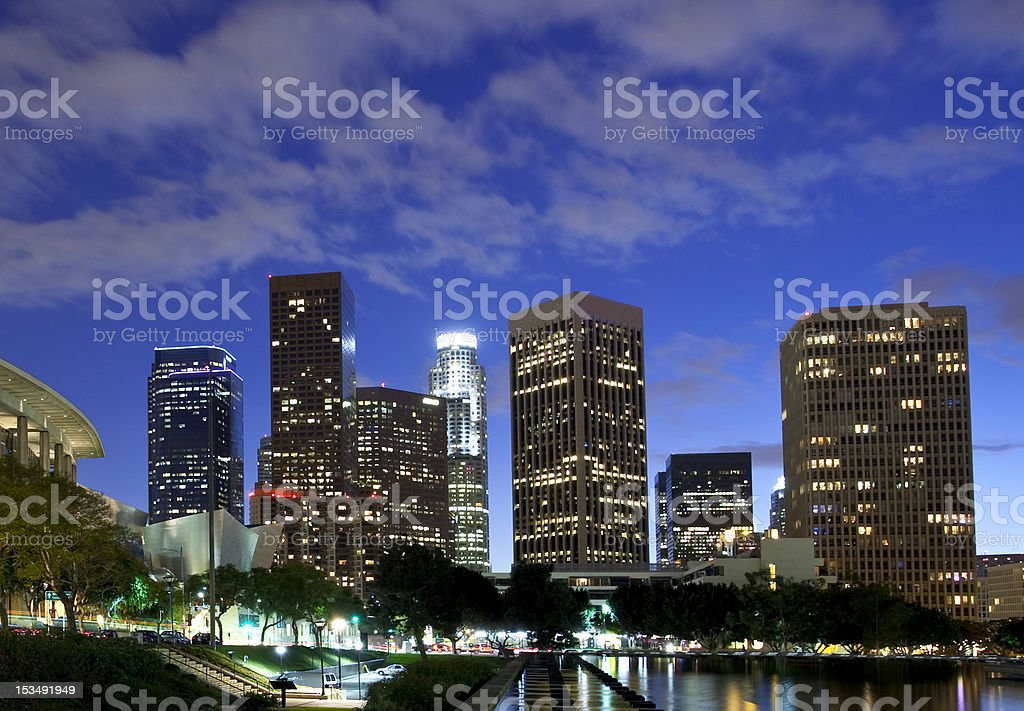 Los Angeles at night royalty-free stock photo