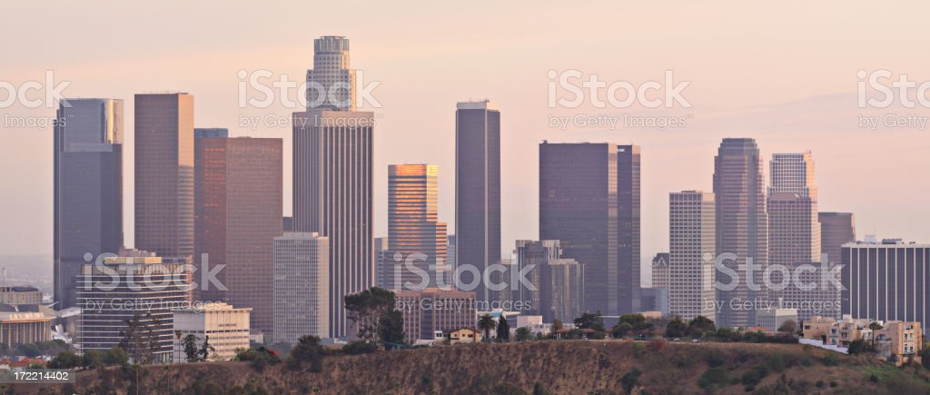 Los Angeles at sunset royalty-free stock photo
