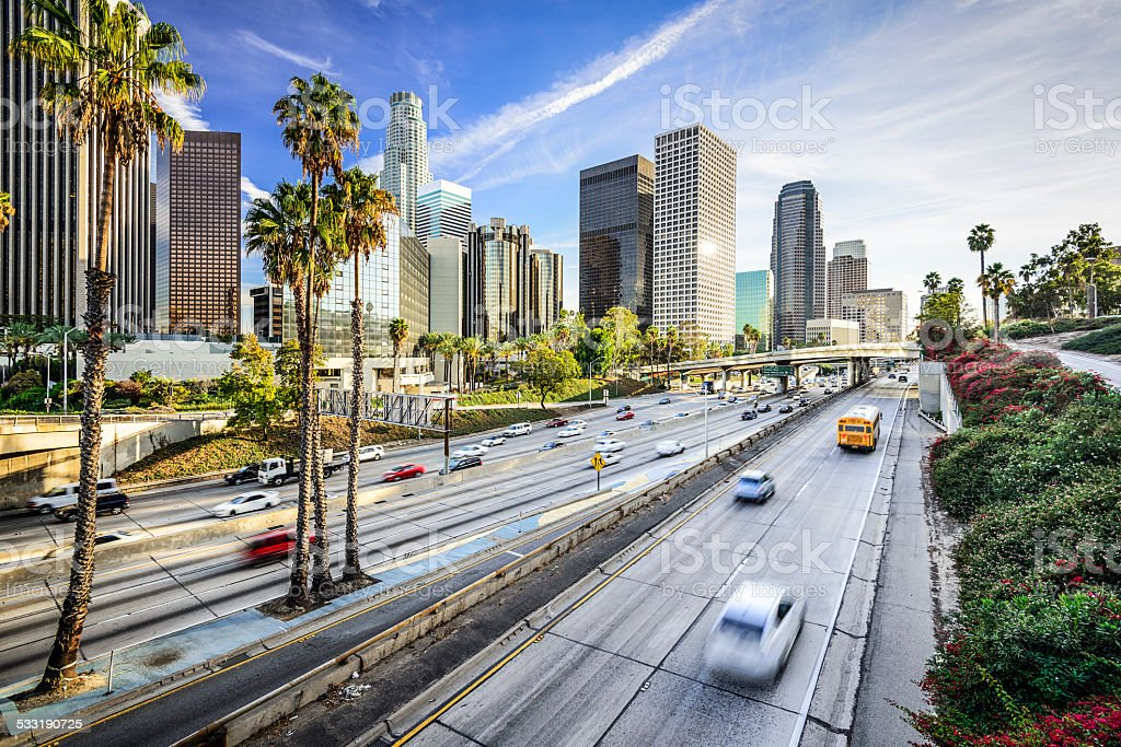Los Angeles, California City Skyline stock photo
