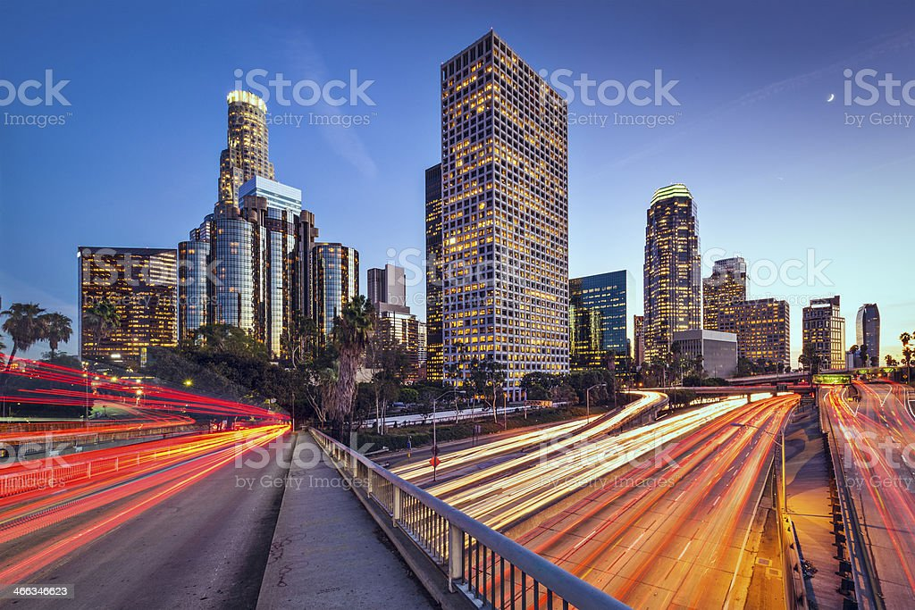 Los Angeles, California Cityscape stock photo