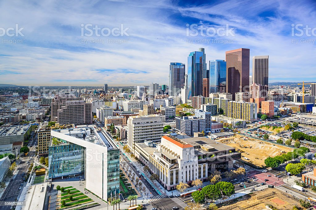 Los Angeles, California, USA Downtown stock photo