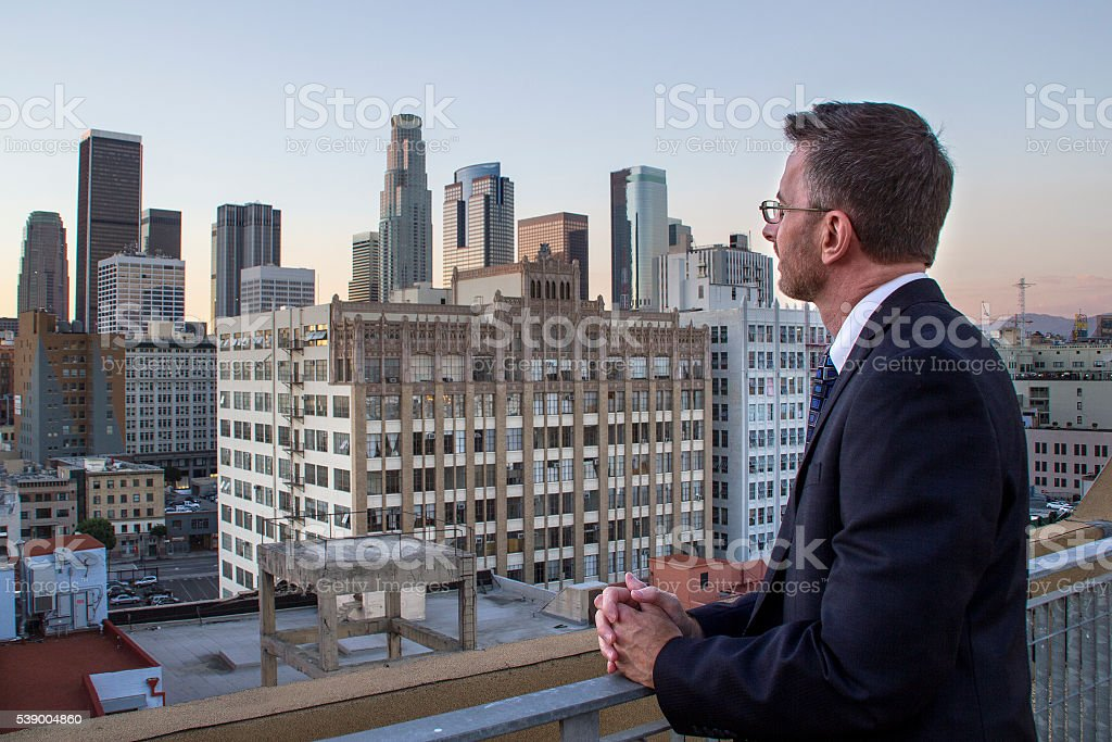 Los Angeles City Developer stock photo