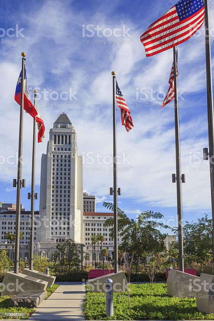Los Angeles City Hall royalty-free stock photo