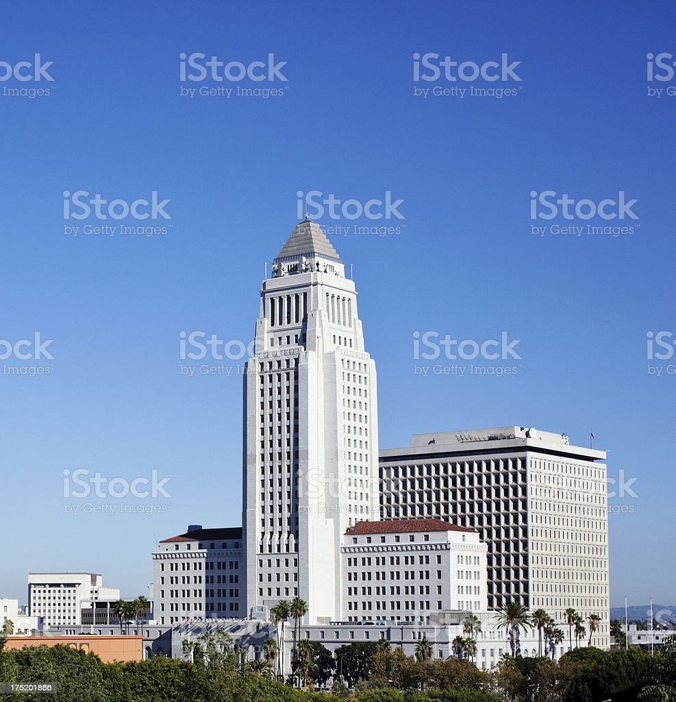 Los Angeles City Hall royalty-free stock photo