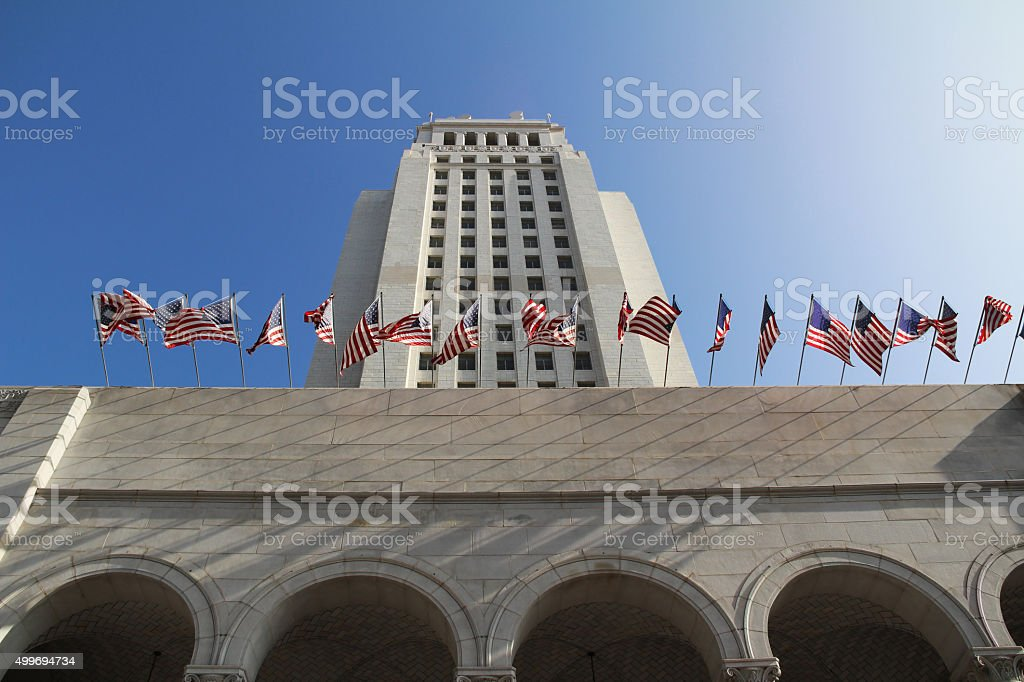Los Angeles City Hall, USA stock photo
