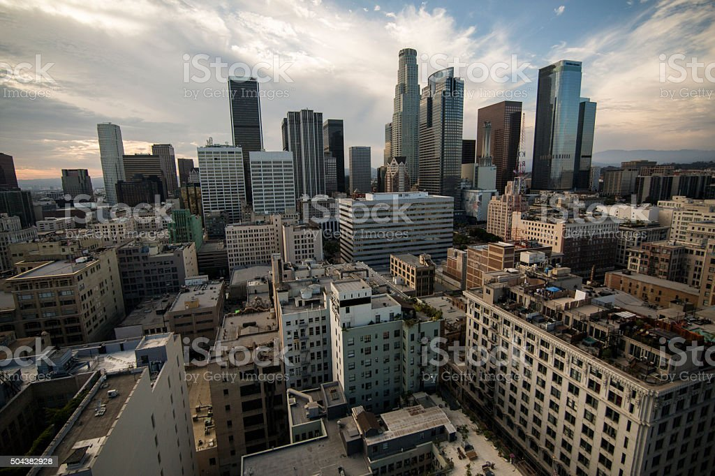 Los Angeles City Scape stock photo