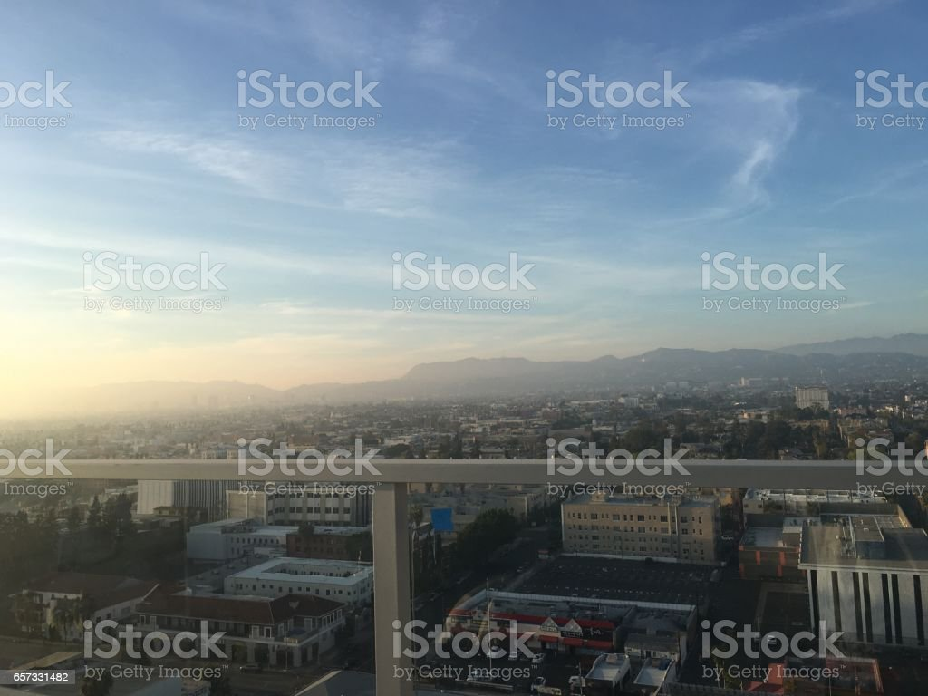 Los Angeles City View stock photo