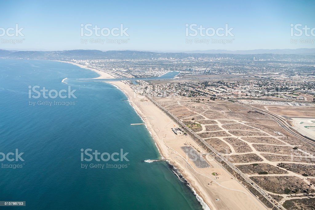 Los Angeles Coastal Aerial stock photo