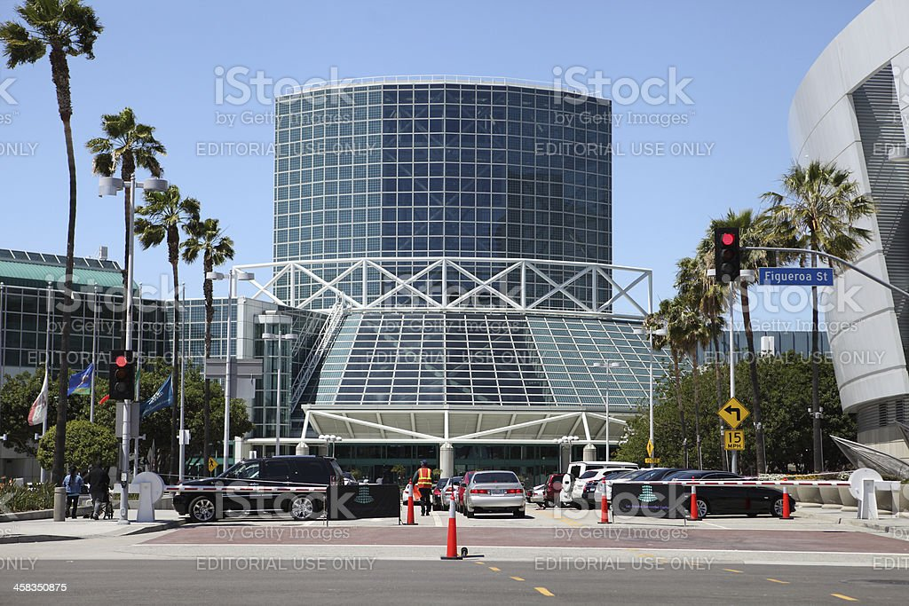Los Angeles Convention Center Annex royalty-free stock photo