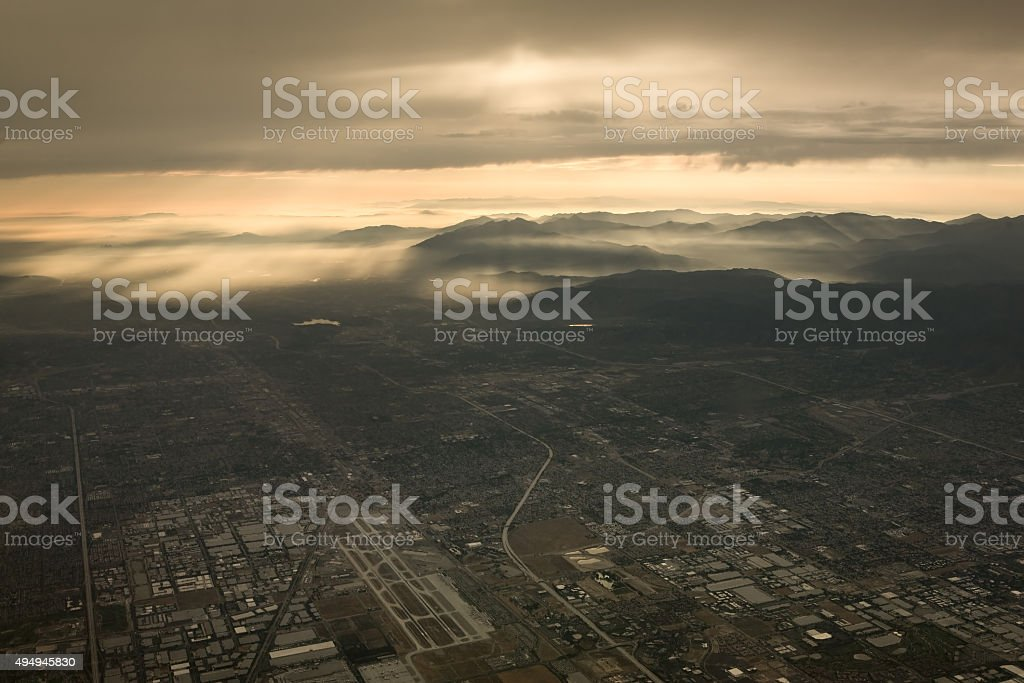 Los Angeles County Aerial stock photo