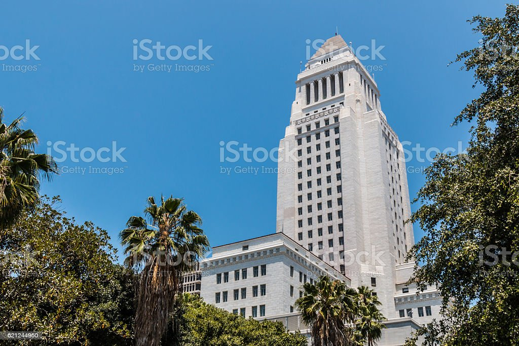 Los Angeles County Courthouse Building in California stock photo