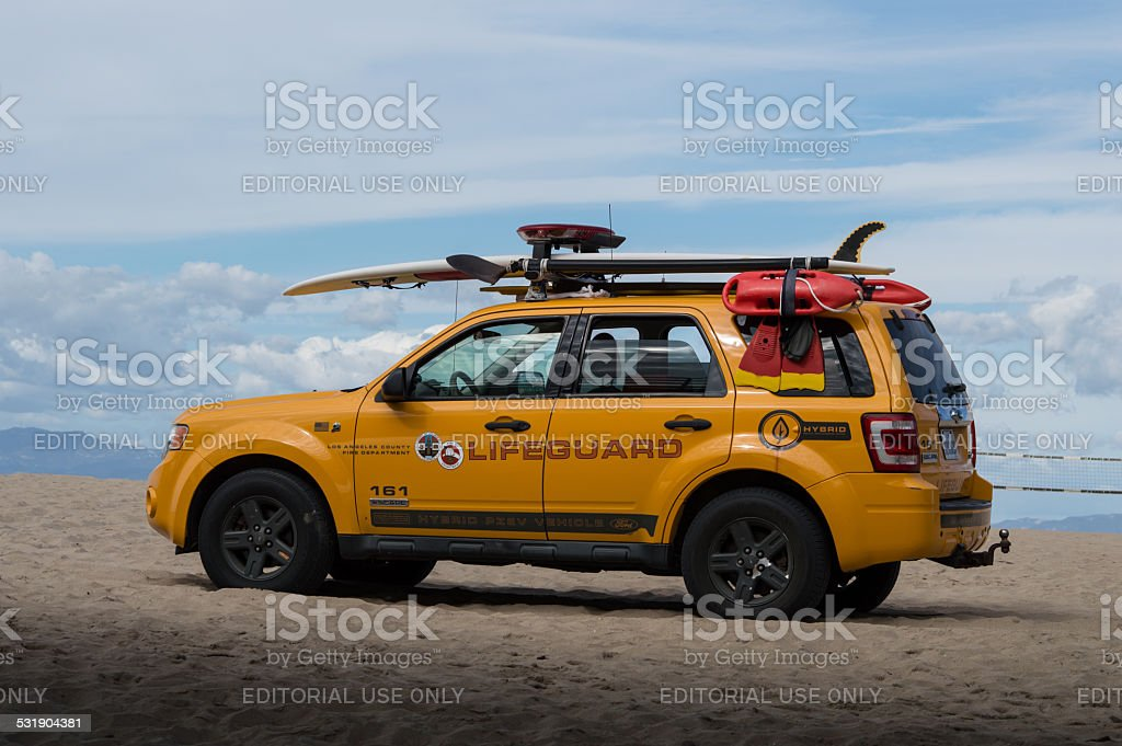 Los Angeles County Fire Department Lifeguard truck stock photo