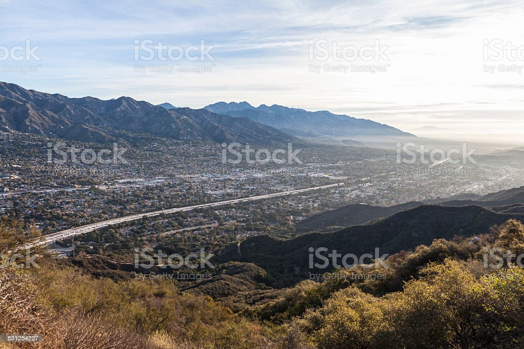 Los Angeles County Morning Valley View stock photo