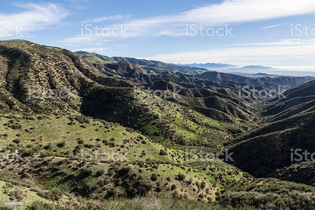 Los Angeles County Mountain Parks stock photo
