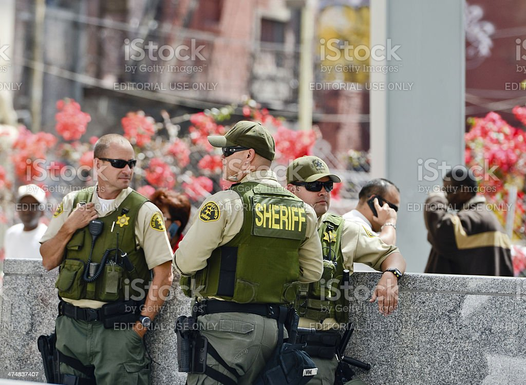 Los Angeles County Sheriffs, May Day stock photo